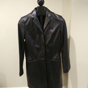 Ralph Lauren Women's Leather Trench Coat Jacket